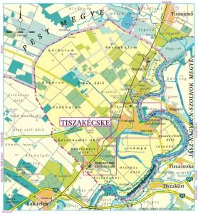 Tiszabög térképe