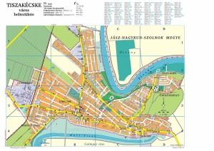 Tiszakécske város térképe